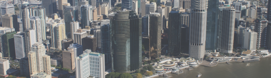 Brisbane city day skyline